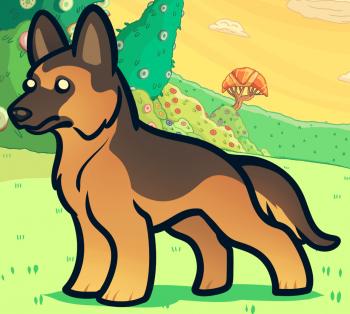 Comment dessiner un berger allemand le chien de berger - Dessin de chien berger allemand ...